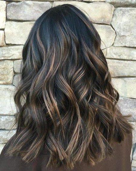 39++ Medium length black hair with highlights trends