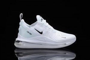 Mens Nike Air Max 720/270 Running Shoes White black ...