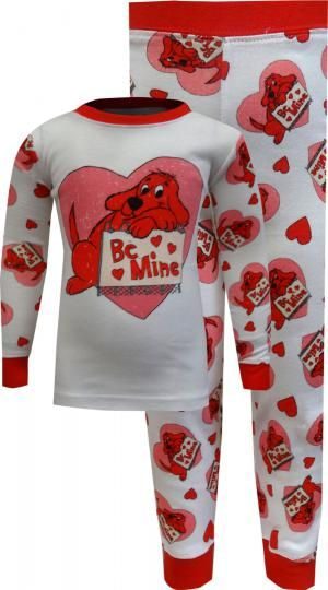 Clifford The Big Red Dog Be Mine Toddler Pajama Toddler Pajamas