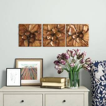 2 Piece Mackintosh Style Art Deco Cold Cast Bronze Wall Décor Set Floral Wall Decor Wall Decor Set Decor