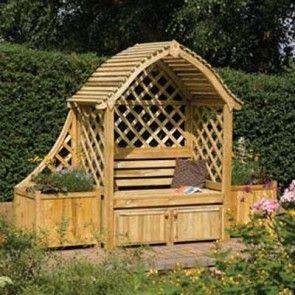 Arran Fsc Wooden Arbour Wooden Arbor