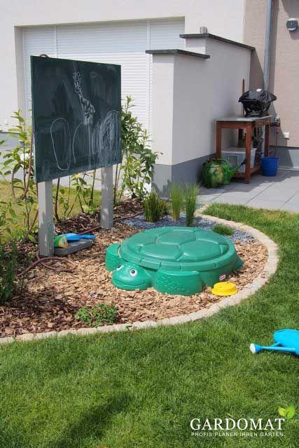 Spielbereich Fur Das Kind Sandkasten Garten Kinder Spielplatz Garten Kleiner Garten