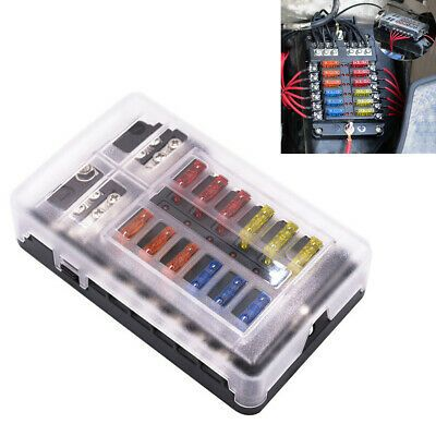 Details About Universal 12 Way 100a Fuse Box Block Fuse Holder Car Circuit Blade Led Indicator In 2020 Fuse Box Led Indicator Led