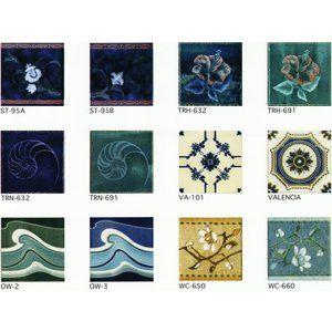 アンティーク デザインタイル 150角 花 イスラム ヨーロッパ風 昭和