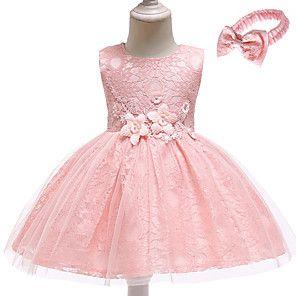 Baby Madchen Aktiv Grundlegend Party Geburtstag Staubige Rose Solide Spitze Armellos Asymmetrisch Baumwolle Kleid Weiss Kleid Altrosa Baumwollkleider Babykleidung