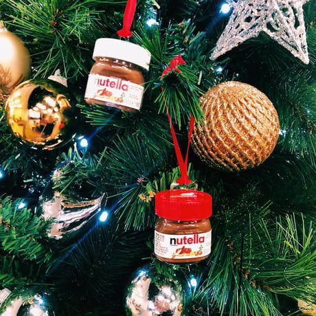 Target Is Selling Mini Nutella Jars That Double As Christmas Ornaments For 1 Nutella Jar Mini Nutella Christmas Ornaments