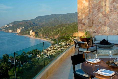 The gorgeous balcony view of Puerto Vallarta from Garza Blanca Preserve Resort & Spa #CousinsOnCall