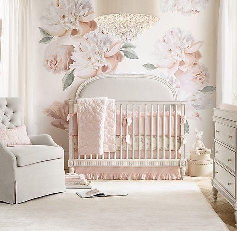 Grand Peony Wall Decal Set Petal Baby Room Design Girl