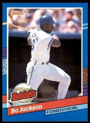 1991 Donruss Highlights Bo Jackson Kansas City Royals Bc 10 Ebay Bo Jackson Kansas City Royals Jackson