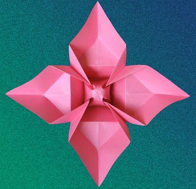 Fiori 4 Petali.Fiore A Quattro Petali Korobochki Origami Cvety