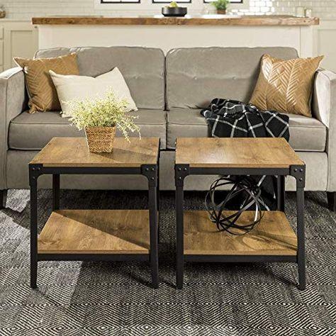 Buy Walker Edison Furniture Company Metal Wood Angle Iron Rustic