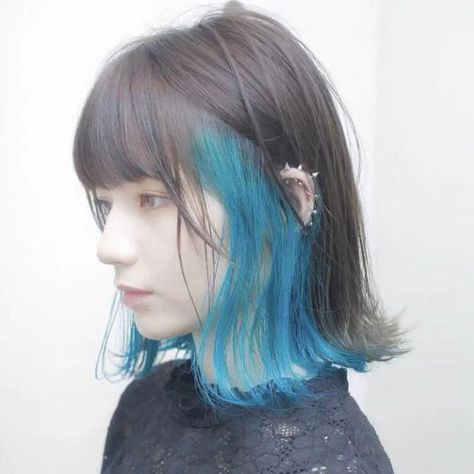 CUTE AIR BANGS PICK BLUE WIG | aleeby
