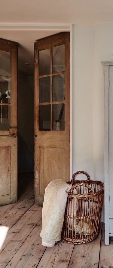 French Doors And Basket In 2020 French Doors Interior French Farmhouse Decor French Country Bedrooms