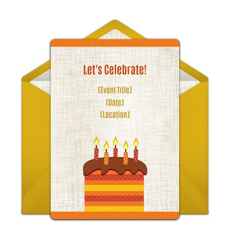 We Love This Fall Colored Free Online Invitation For Any Age Birthday Party Great Digital Alternative To DIY Paper Options