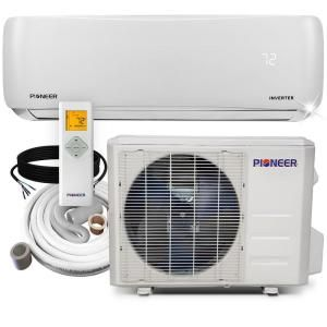 Pioneer 12 000 Btu 1 Ton 19 Seer Ductless Mini Split Air Conditioner Heat Pump Variable Speed Dc Inverter System 110 120v Wys012amfi19rl 16 The Home Depot Air Conditioner Heater Wall Mounted Air Conditioner
