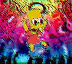 Trippy Bart Ps4 Wallpaper Trippy Pictures Trippy Cartoon Trippy