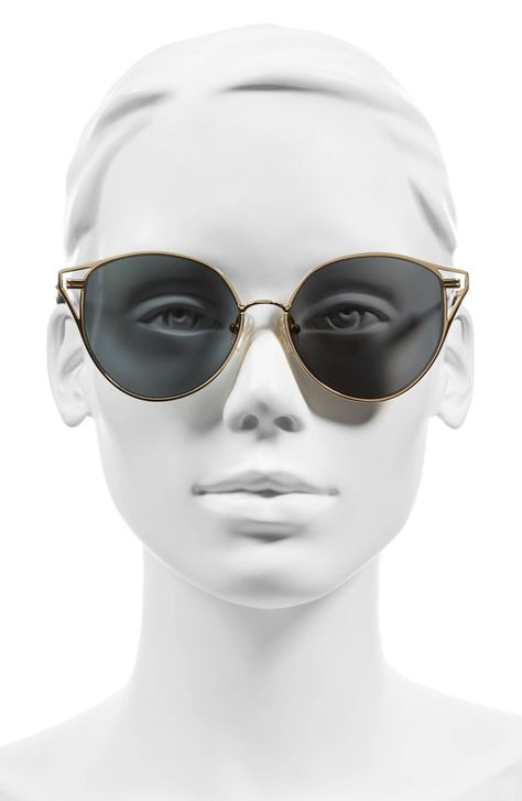f4e7bb85f8 Main Image - Sonix Ibiza 55mm Mirrored Round Sunglasses