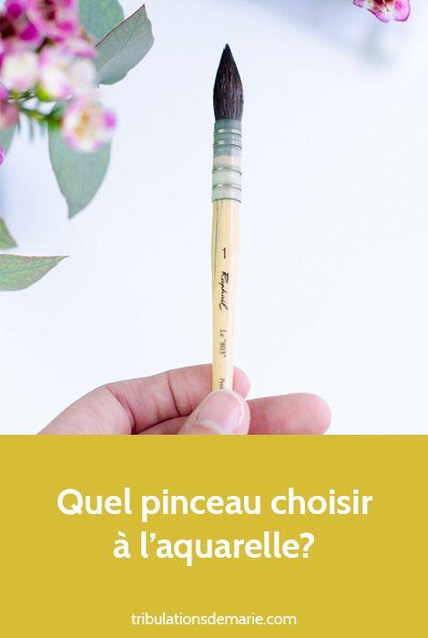 Quel Pinceau Choisir A L Aquarelle Pinceau Aquarelle Bouquet