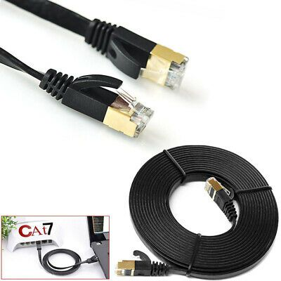 Rj45 Cat7 Ethernet Cable 10gbps Flat Ultra Thin Lan Network Patch SSTP Lead