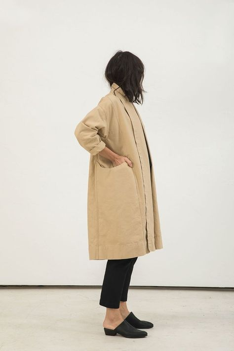 Clyde Trench in Cotton Canvas Natural