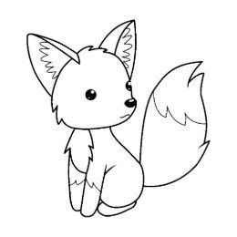 Cute Little Fox Coloring Page Rubber Stamp Zazzle Com In 2020 Fox Coloring Page Animal Coloring Pages Unicorn Coloring Pages