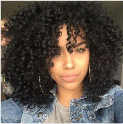 Beautiful Afro Haare Frisuren Cabelo Cacheado Com Franja Cachos Compridos Cabelo