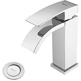 Waterfall Bathroom Sink Faucet Set Doris Fa001 Single Handle Faucet For Bathroom Vanity Sink Including Luxury Si Faucet Vessel Sink Bathroom Bathroom Faucets