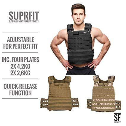 Maximalgewicht: 17 kg geeignet f/ür Cross Training und Krafttraining Suprfit Sigurd 3D Gewichtsweste Gewicht: 2 x 2,6 oder 2 x 4 kg Laufweste inkl Gewichtsscheiben