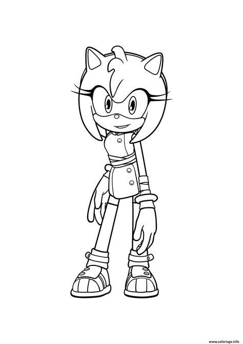 Coloriage Sonic Amy A Imprimer Coloriage Sonic Coloriage Dessin Sonic