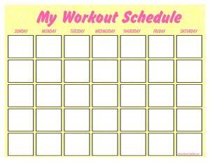 blank work schedule maker