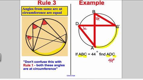 Circle Theorems Cxc Csec And Gcse Math Revision Math Pinterest