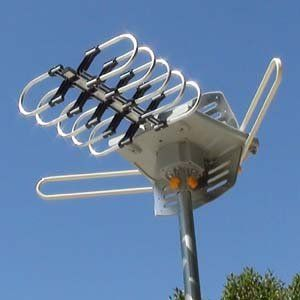 Go Off the Cable Grid and Get Free HD TV ~ Amplified HD Digital Outdoor HDTV Antenna with Motorized 360 Degree Rotation, UHF/VHF/FM Radio with Infrared Remote Control : S...