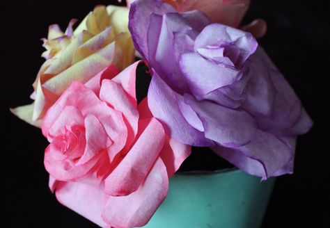 DIY Coffee Filter Roses (free template)