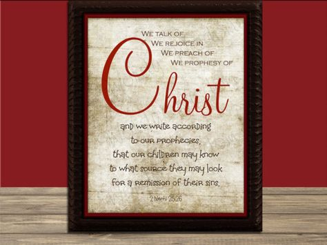 INSTANT DOWNLOAD: We talk of Christ... One of my favorite scriptures of all time. Remembering Jesus Christ is important, any time of the year. Now