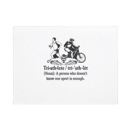 Funny Triathlete Definition T Shirt Triathlon Gift Doormat Zazzle Com In 2020 Triathlon Gift Triathlon Triathlete