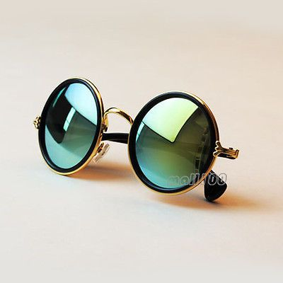 38158454d2af Vintage Round Mirror Lens UV400 Sunglasses Women Men Unisex Glasses Fashion  New