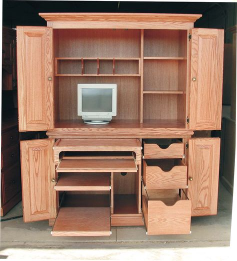 Sauder MONARCH Armoire Computer Workcenter Model #9649 270 | Antiques,  Vintage Collectibles U0026 A Few Cool Toys Too! | K BID | Home Office |  Pinterest ...