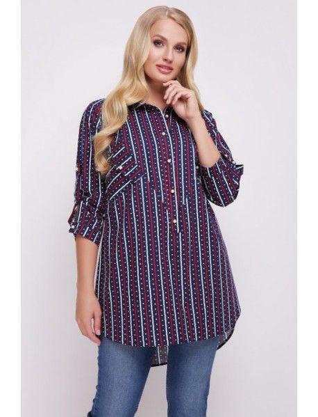 27ebd2b9f727 Женская хлопковая рубашка большого размера. Застегивается рубашка на ...