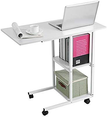 Amazon Com Cocoarm Overbed Table Mobile Desk Cart Adjustable Laptop Cart Laptop Notebook Desk With Wheels Hospital And Desk Laptop Table For Bed Bed Table