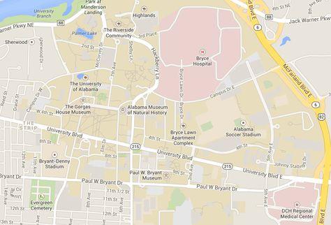 Interactive Campus Map Ua.List Of Pinterest University Of Alabama Campus Maps Images