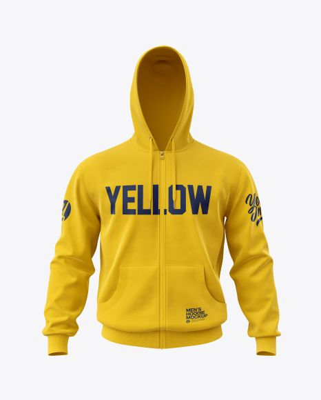 Download Men S Full Zip Hoodie Mockup In Apparel Mockups On Yellow Images Object Mockups Hoodie Mockup Clothing Mockup Shirt Mockup