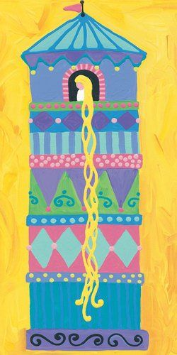 Oopsy Daisy Rapunzel Stretched Canvas Art by Stephanie Bauer 12 by