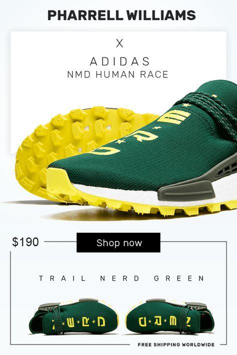 Pharrell x NERD x Adidas NMD Hu Green