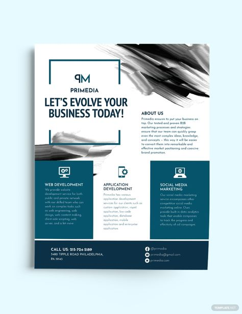 Aquarelle Business Flyer Template [Free JPG] - Illustrator, InDesign, Word, Apple Pages, PSD, Publisher | Template.net