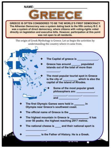 Greek Gods Facts Worksheets Ancient Myths For Kids In 2021 Greek Myths For Kids Greek Mythology Worksheets Greek Myths Ancient greece for kids worksheets
