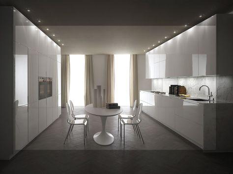 Laccato lucido bianco per la cucina VISION di Gatto Cucine ...