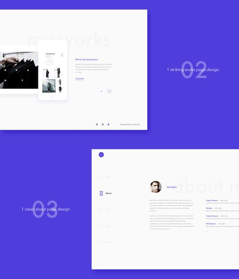 n personal landing page of psd template by criss samson get it on