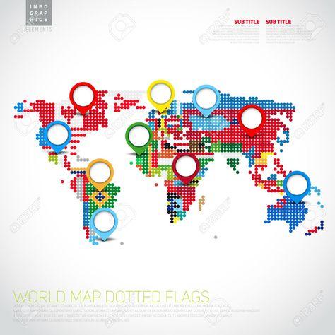 a12de014cc6 Encontrado en Google en 123rf.com | 060 MAPAMUNDIS CREATIVOS ...