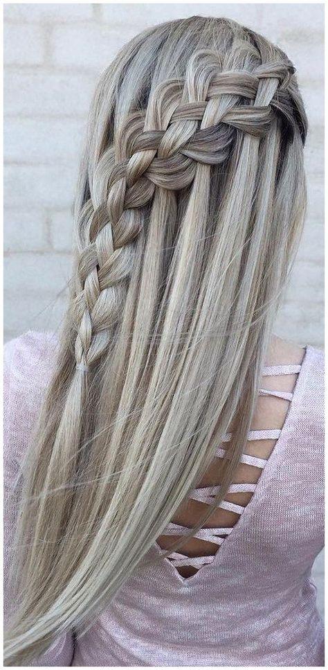 Flechtfrisuren Lange Haare Einfach Meine Traum