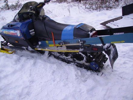 Storage space snowmobiles